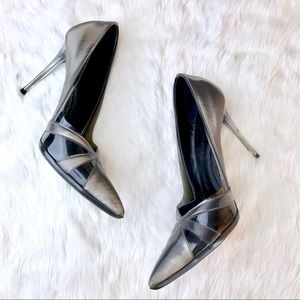 Stella McCartney Vinyl Pointed Toe Heels